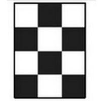 Шахматная доска для определения укрывистости 90х120 мм 20шт